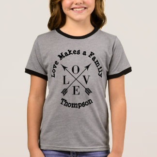 Love Makes a Family - Parenting Adoption Foster Ringer T-Shirt
