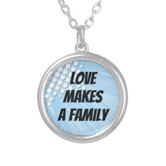 Love Makes a Family - Super Hero Adoption Silver Plated Necklace