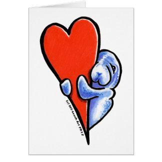 Love Manatees Card