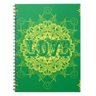 Love Mandala Design Notebook