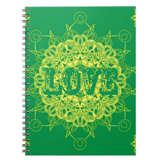 Love Mandala Design Spiral Notebook