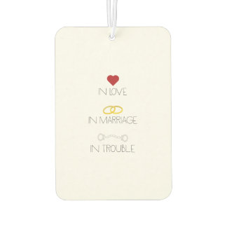 Love Marriage Trouble Zb756 Car Air Freshener