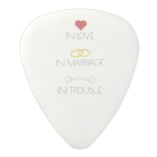 Love Marriage Trouble Zb756 Polycarbonate Guitar Pick