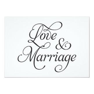 Love & Marriage Wedding Card