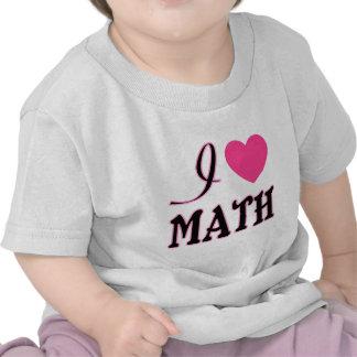 Love Math Pink Heart Logo Tee Shirt