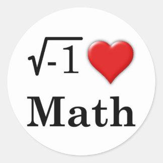 Love math round sticker