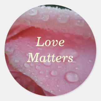 Love Matters Round Sticker