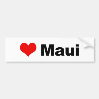 Love Maui Bumper Sticker