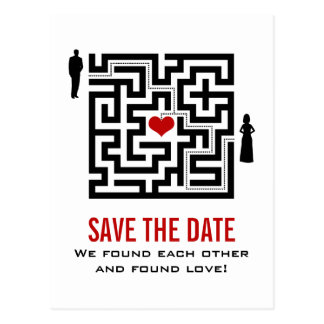 Love Maze Save the Date Postcard