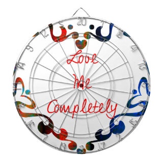 Love Me Completely Message Design Dartboard