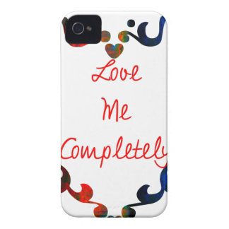 Love Me Completely Message Design iPhone 4 Case-Mate Case