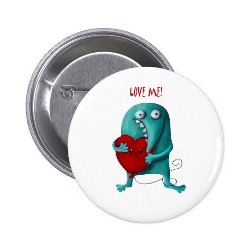 LOVE ME! Cute Guy Button