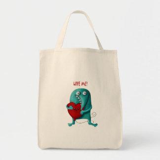 LOVE ME! Cute Guy Canvas Bags