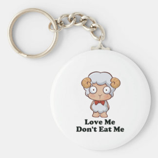 Love Me Don't Eat Me Sheep Design Keychains