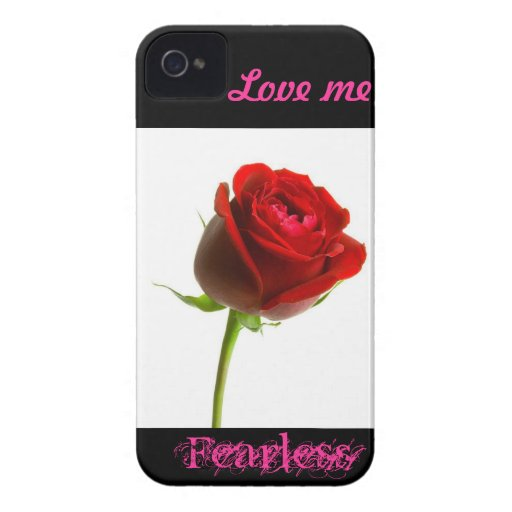 Love me fearless (rose) iPhone 4 Case-Mate cases
