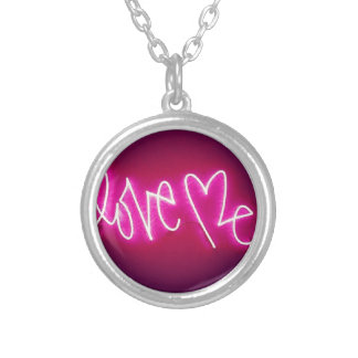 LOVE ME GRAFFITI TAG SILVER PLATED NECKLACE