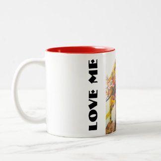 love me love me not Two-Tone coffee mug