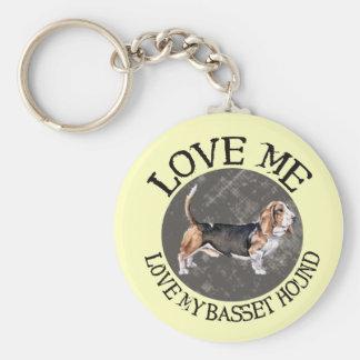 Love Me, love my Basset Hound Key Ring