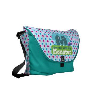 Love me , love my monster messenger bag