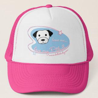 Love me...love my Pitbull Trucker Hat