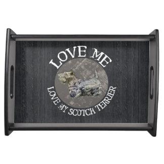 Love Me, Love My Scotch Terrier Food Trays