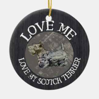 Love Me, Love My Scotch Terrier Ornaments