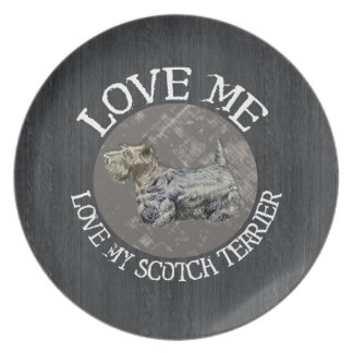 Love Me, Love My Scotch Terrier Party Plate