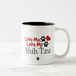 Love Me, Love My Shih Tzu Two-Tone Coffee Mug