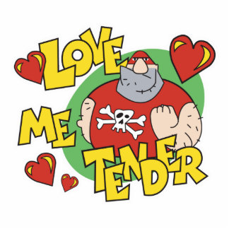 love me tender thug design cut out