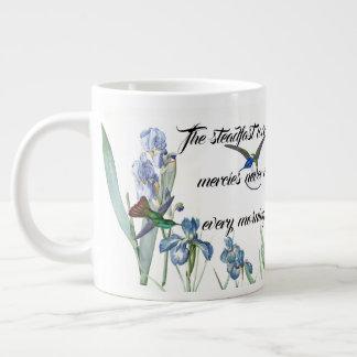 Love Mercy God Hummingbird Iris Flowers Jumbo Mug