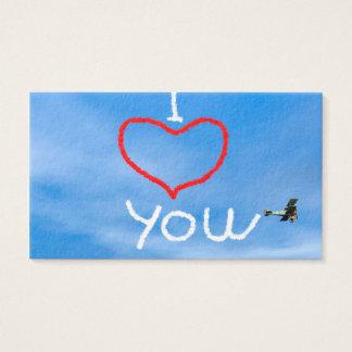 Love message from biplan smoke - 3D render