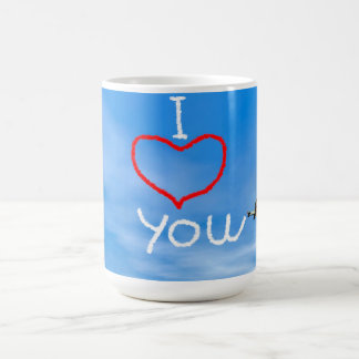 Love message from biplan smoke - 3D render Coffee Mug