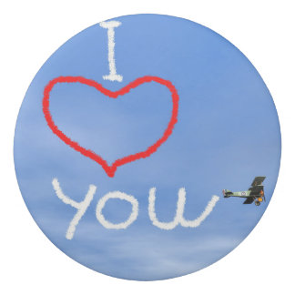 Love message from biplan smoke - 3D render Eraser