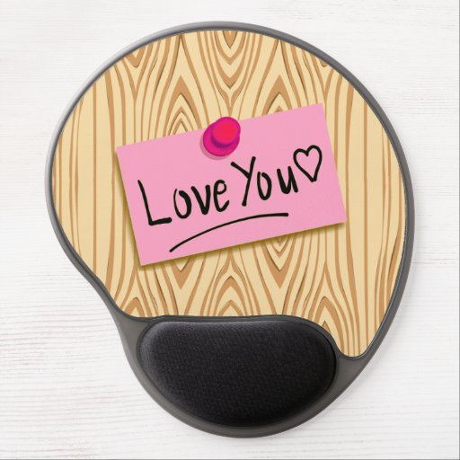 LOVE MESSAGE- PINK LOVE post-it, Mouse Pad Gel Mousepad