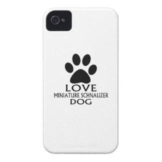 LOVE MINIATURE SCHNAUZER DOG DESIGNS iPhone 4 CASE