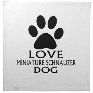 LOVE MINIATURE SCHNAUZER DOG DESIGNS NAPKIN