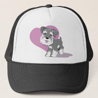 Love Miniature Schnauzer Puppy Shirt Trucker Hat