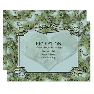 Love Mint Chips Wedding Reception Card
