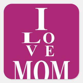 Love MoM Images Square Sticker