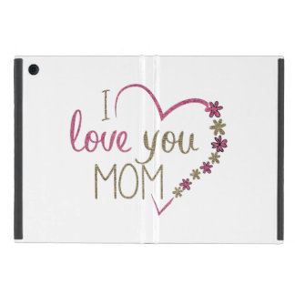 Love Mom Mothers Day Heart Cover For iPad Mini