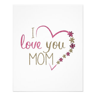 Love Mom Mothers Day Heart Flyer