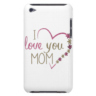 Love Mom Mothers Day Heart iPod Case-Mate Cases