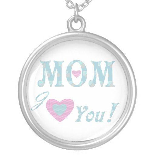 Love Mom Personalized Necklace