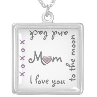 Love Mom to moon and back necklace