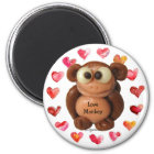 Love Monkey Personalised Magnets-Novelty Gifts Magnet