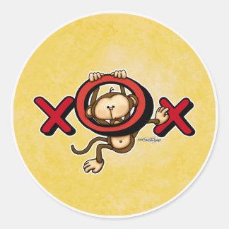 Love Monkey Valentine stickers