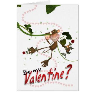 Love Monkey Valentine's Day Card - Be My Valentine