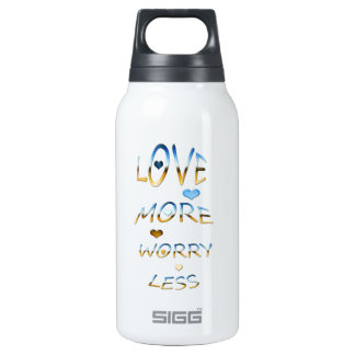 Love more worry less 0.3 litre insulated SIGG thermos water bottle