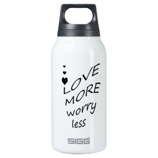Love more worry less 0.3L insulated SIGG thermos water bottle