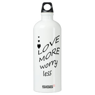 Love more worry less SIGG traveller 1.0L water bottle